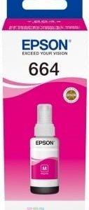 Epson T6643 Magenta - Botella de Tinta Original C13T664340