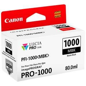 Canon PFI1000 Negro Mate Cartucho de Tinta Original - PFI1000MBK/0545C001