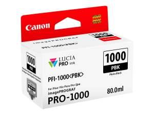 Canon PFI1000 Negro Photo Cartucho de Tinta Original - PFI1000PBK/0546C001