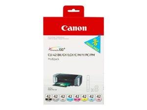 Canon CLI42 Pack de 8 Cartuchos de Tinta Originales - 6384B010