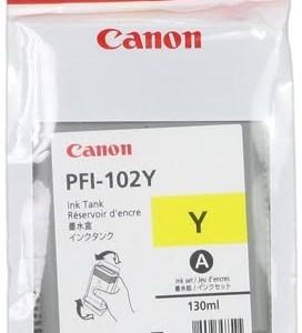 Canon PFI102 Amarillo Cartucho de Tinta Original - 0898B001