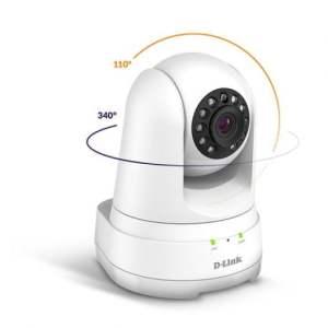 D-Link Camara IP Full HD 1080p 360º WiFi - Microfono y Altavoz Incorporado - Vision Nocturna - Angulo de Vision 114° - Deteccion de Movimiento - Para Interior