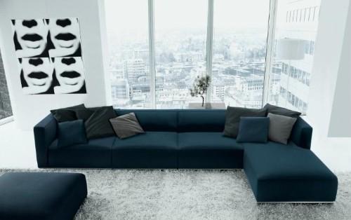 sofas modernos para sala de tv oferta sofa chaise longue cama sofás canto - fotos e modelos