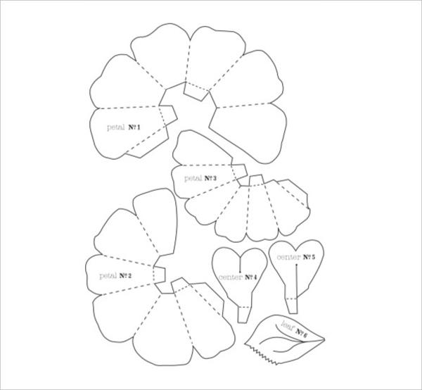 Moldes de Flores para Imprimir Grátis