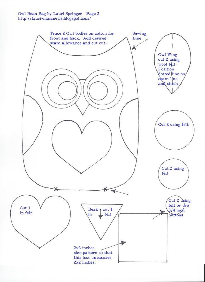Molde de Coruja: 27 Desenhos para Imprimir