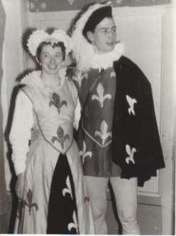 """Doreen Sisson and boyfriend in fancy dress for """"Panto (Archive reference: GSAA/P/1/990)"""