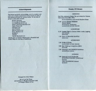 Activities Week Programme 1980, Page 2