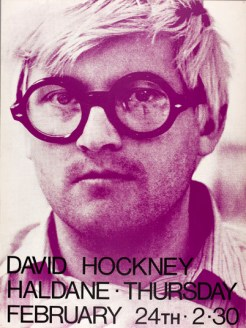 David Hockney poster, 24 February 1972 (Archive reference: GSAA/EPH/10/150)