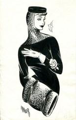 Fashion Illustration by Margaret Oliver Brown (Archive reference: DC/51/2/20)