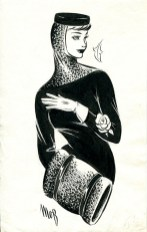 Fashion Illustration by Margaret Oliver Brown (Archive reference: DC/51/2/20)