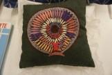 Embroidered cushion by Kath Whyte