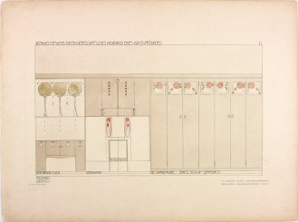 Plate 11 The Bedroom from Charles Rennie Mackintosh's design for House for an Art Lover, 1901,The Glasgow School of Art Archives and Collections (Archive reference: MC/G/33A)