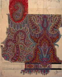 Untitled Paisley Shawl Design, GSA Archives and Collections (archive reference: DC/39/01)
