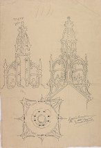Design for a building spire, GSA Archives and Collections (archive reference: NMC/375/56)