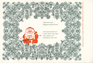 Christmas card from Margaret and Kit Grant, GSA Archives and Collections (DC029/5/2/32)