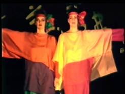 Bright colours were common in the 1985 fashion show.
