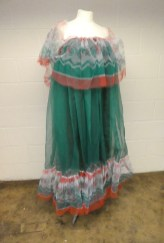 """""""Pennie Daintee"""" dress two created from dyed and printed netting. Archive Reference: JAC 42."""