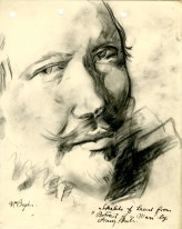 Sketch of a Frans Hals painting by Robert MacBryde (Archive Reference: GSAA/SEC/1/1940)