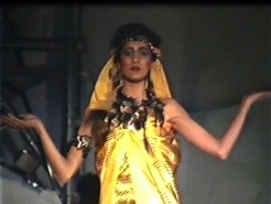 Stills from fashion show films from 1984 and 1986.