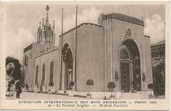 British Pavilion by Easton and Robertson, Paris 1925. Image courtesy of: Wikimedia Commons.