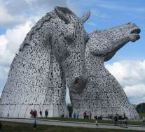 """The Kelpies"" designed by Andy Scott. Image courtesy of Ross Lightbody."