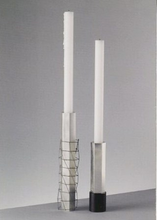 Pair of candlesticks by Andrew Fleming Silversmith (JAC 77) Image courtesy of the artist.