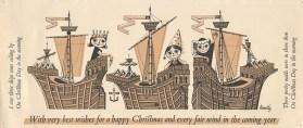 Christmas Card designed by Gordon Huntley (DC 029/5/2/3)