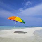 Umbrella on Sandbar