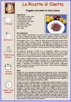 fegato con pere e vino rosso
