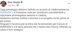 Dichiarazioni Gino Strada