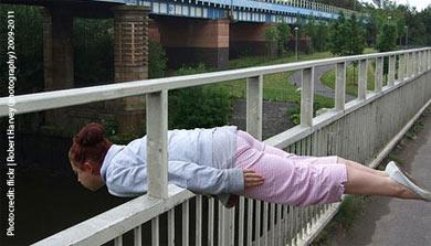 planking on bridge