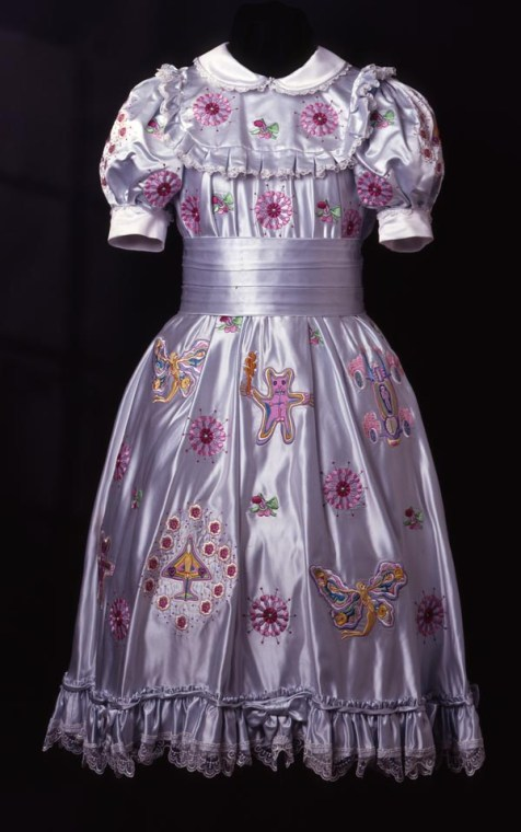 Grayson Perry, Claire's Coming Out Dress, 2000, © the artist, image by Jerry Hardman-Jones, Nottingham City Museums & Galleries collection