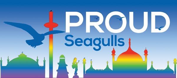 Image result for brighton& hove albion gay pride 2018 logo