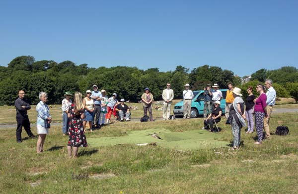 Quakers gather at graveside for the Meeting for Worship for the burial of friends