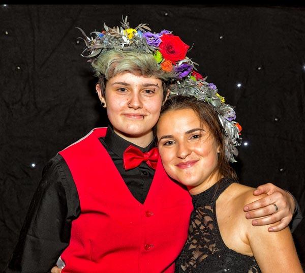 Duo Prom winners, Allyshia and Katie