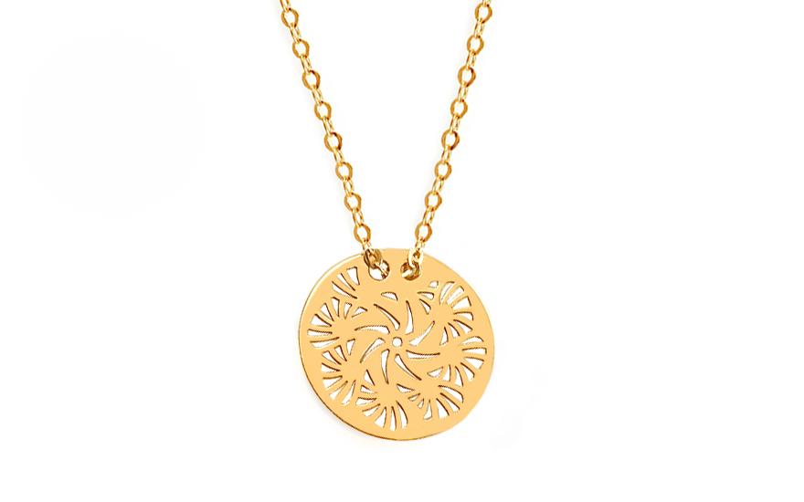 Gold Halskette mit Anhnger VIP fr Damen IZ12126
