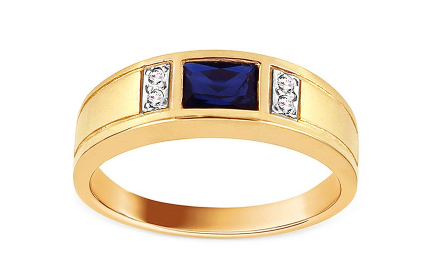 Goldring Isarel mit blauem Stein fr Damen CSRI1072BY