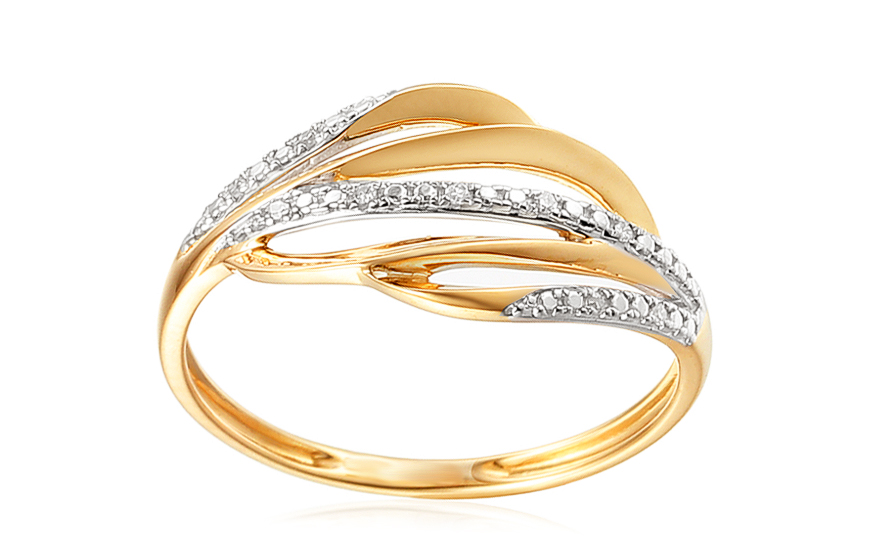 Goldring mit Diamanten 0020 ct Bethany fr Damen