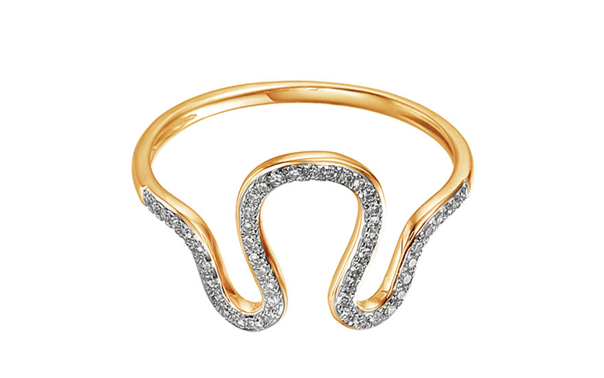Goldring mit Diamanten 0130 ct Talitha fr Damen