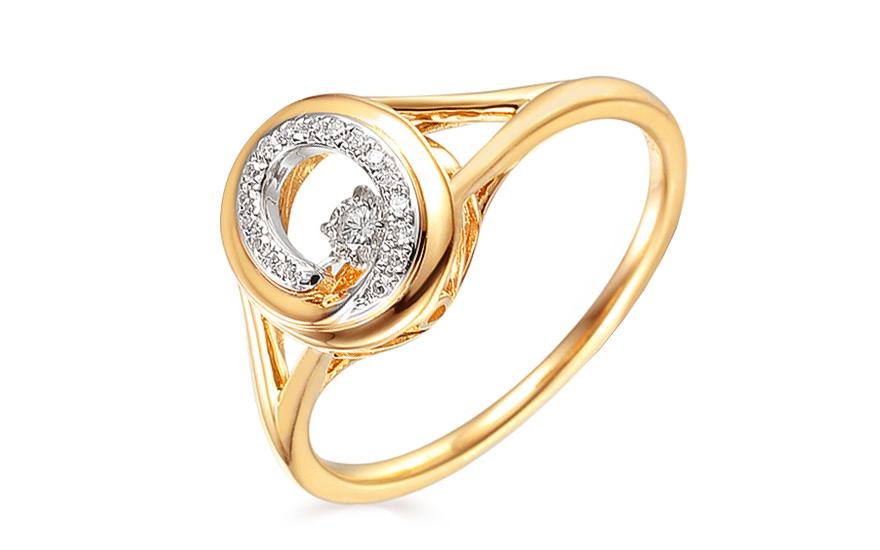 Goldring mit Diamanten 0140 ct Dancing Diamonds fr