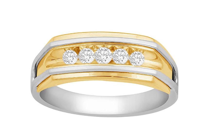 Herren Goldring mit Diamanten Maxime fr Herren KU573