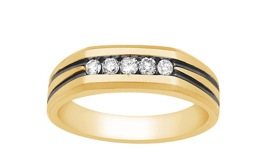 Herren Goldring mit Diamanten fr Herren KU465