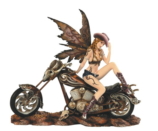 Cowgirl Fairy on Motorcycle  GSC Imports