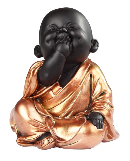 Sitting Buddhist Monk in GoldenBlack  GSC Imports