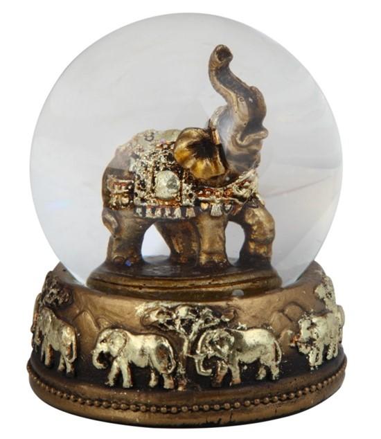 3 14 Thai Elephant Snow Globe  GSC Imports