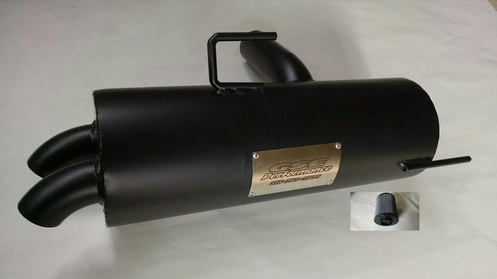 medium resolution of polaris rzr 800 trail tamer muffler high flow air filter gse