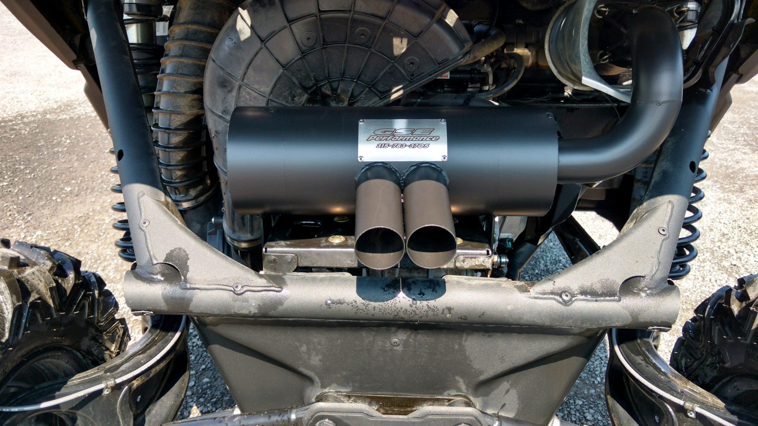 601731 can am maverick x3 turbo slip on trail tamer muffler