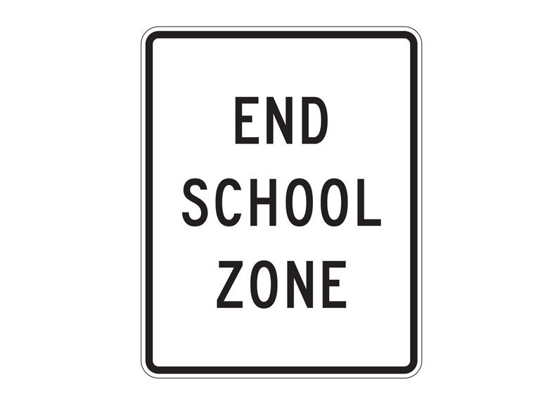 S5-2 End School Zone at Garden State Highway Products