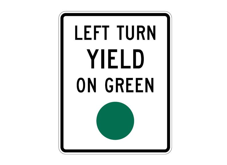 R10-12 Left Turn Yield on Green at Garden Sate High