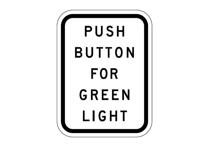 R10-3 Push Button For Green Light at Garden State Highway
